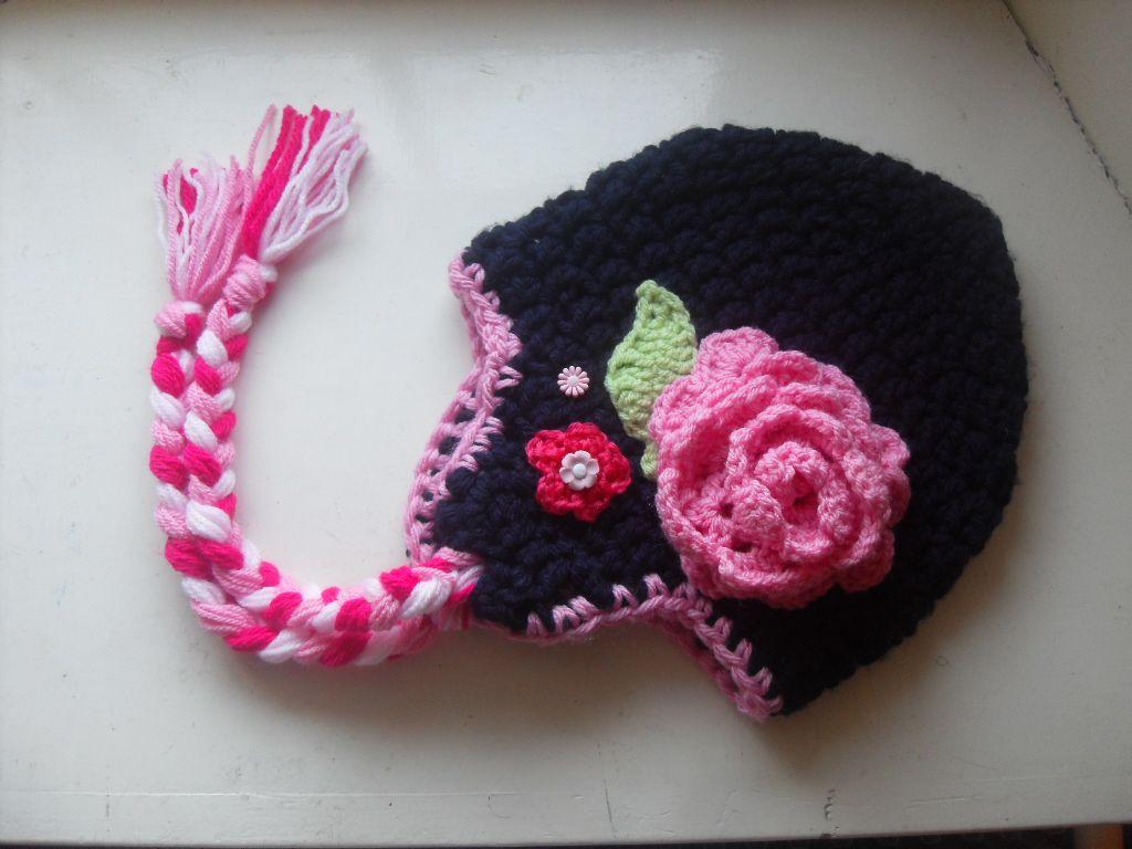 Floral crochet hat