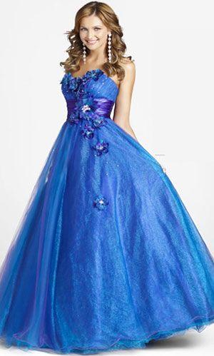 Color de uрів±as con vestido azul