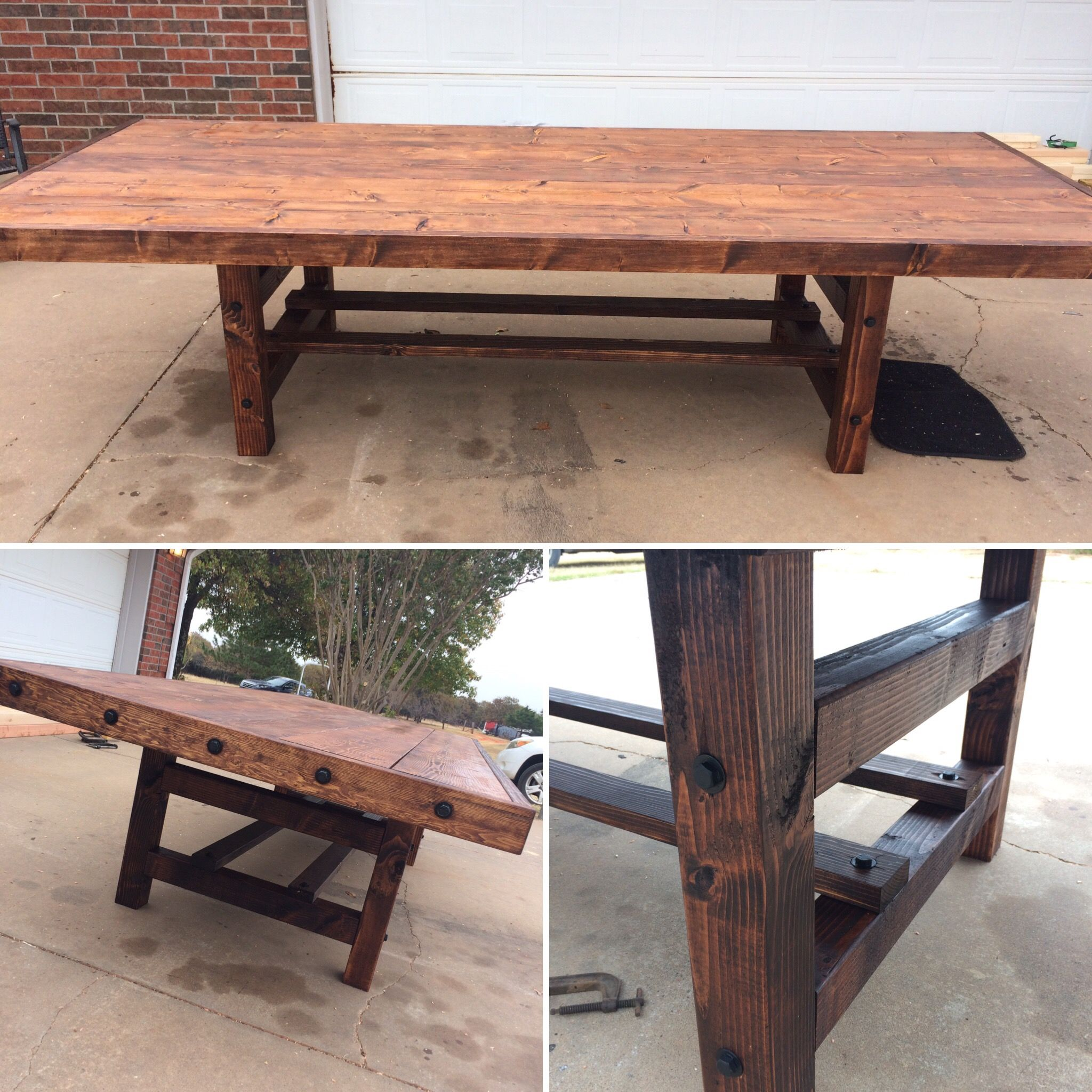 Superb Farmhouse Outdoor Table. Stained With Minwax Honey. Waterproofed With  Olympic Exterior Clear Sealant. Waterproof Spray ... Part 31