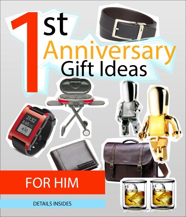 First wedding anniversary gift ideas for men