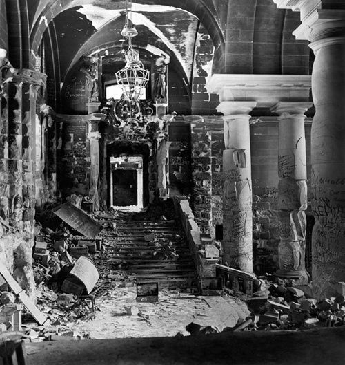 The Inside Of The Reichstag, Destroyed By The Fighting And