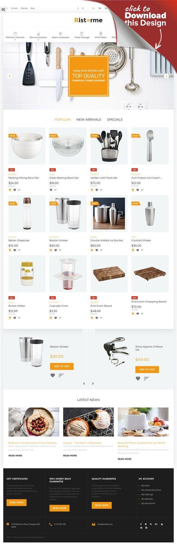 Ristorme - Restaurant Equipment & Houseware PrestaShop Theme | Template