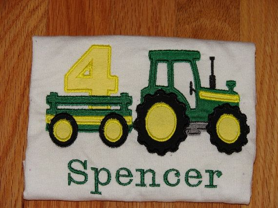 Tractor Birthday Shirt John Deere by GigglesNGrinsBoutiqu on Etsy, $25.00