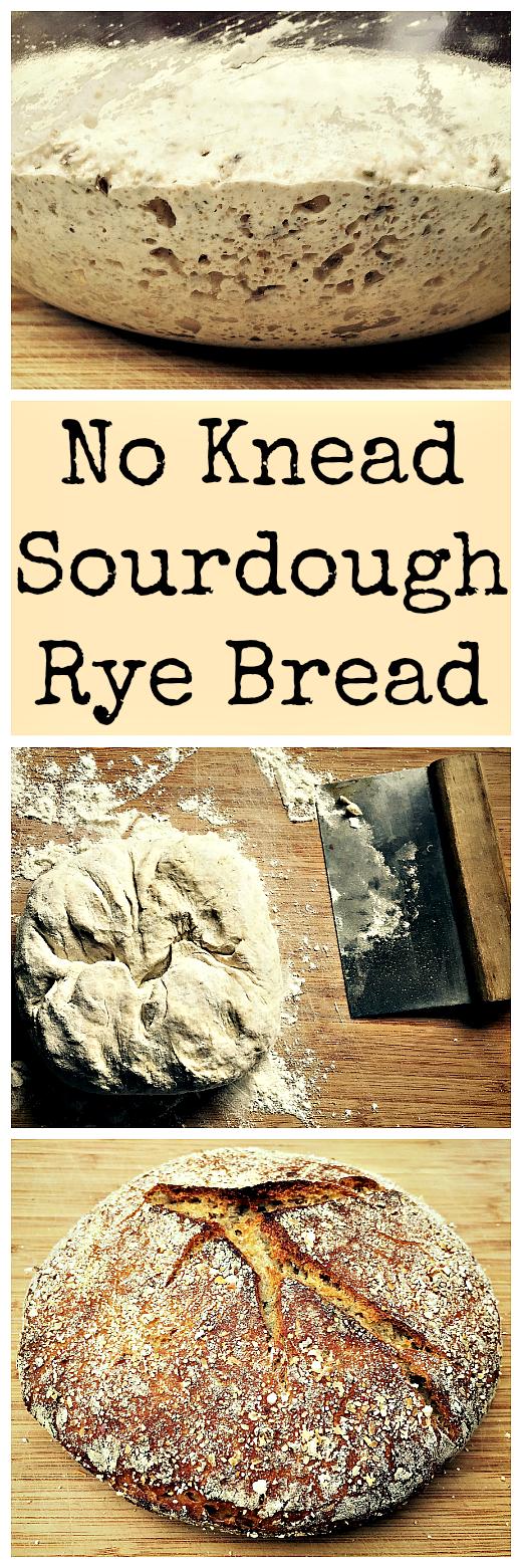No-Knead Sourdough Rye Bread | Recipe | Sourdough rye ...