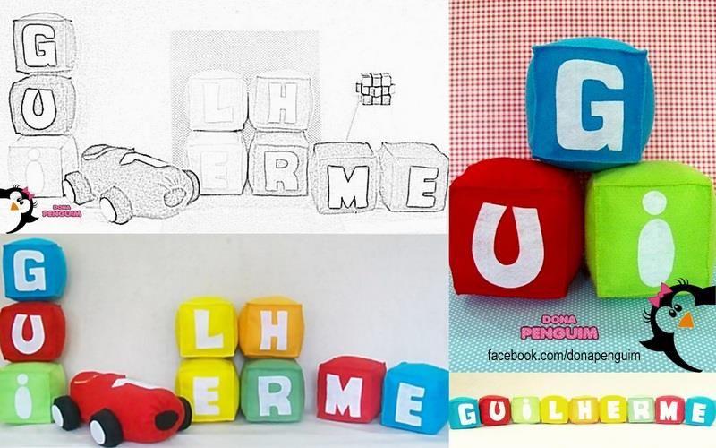 Decorao Tema Pocoyo Cubos Nome Guilherme E Carro Do Pocoyo.