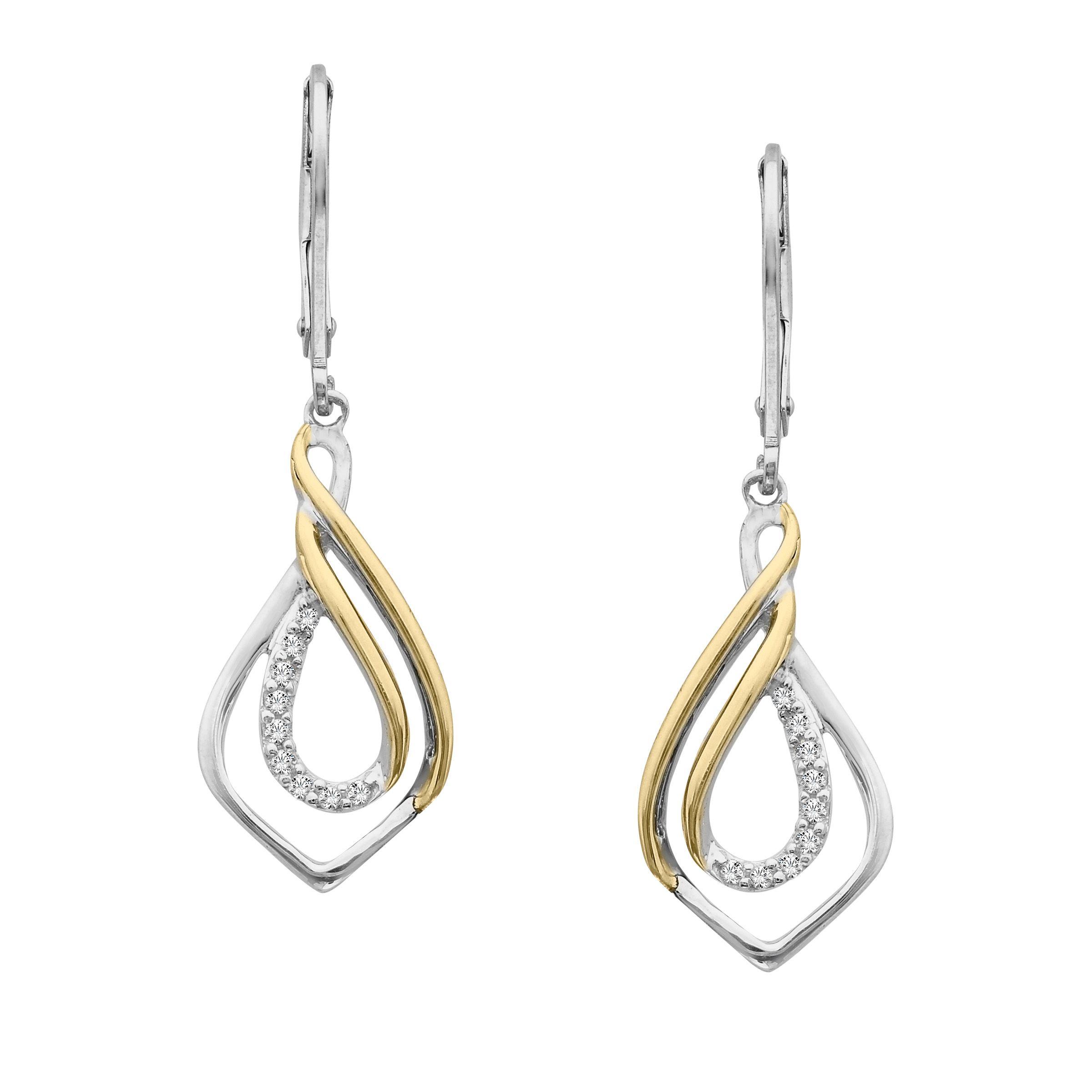 ct diamond drop earrings in sterling silver u k gold from