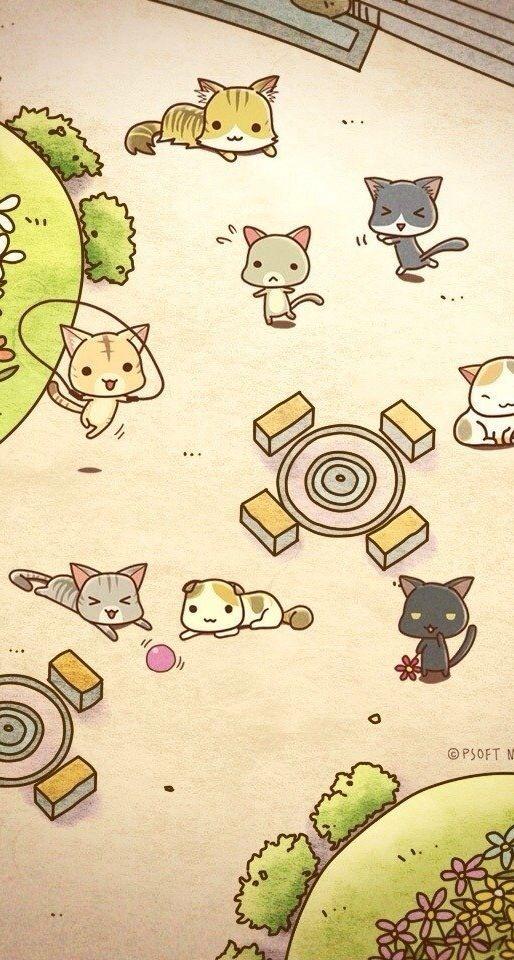 Pin By Najwa Moukaddem On Wallpaper Cute Art Iphone Wallpaper Cat Cats Illustration