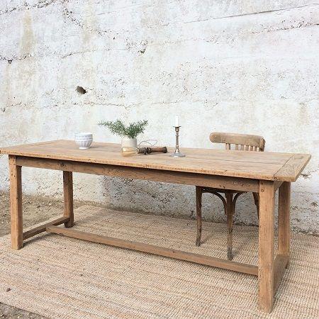 Table De Ferme Ancienne, Bois Brut Ancien, Table Campagne, Table Ancienne,  Chêne
