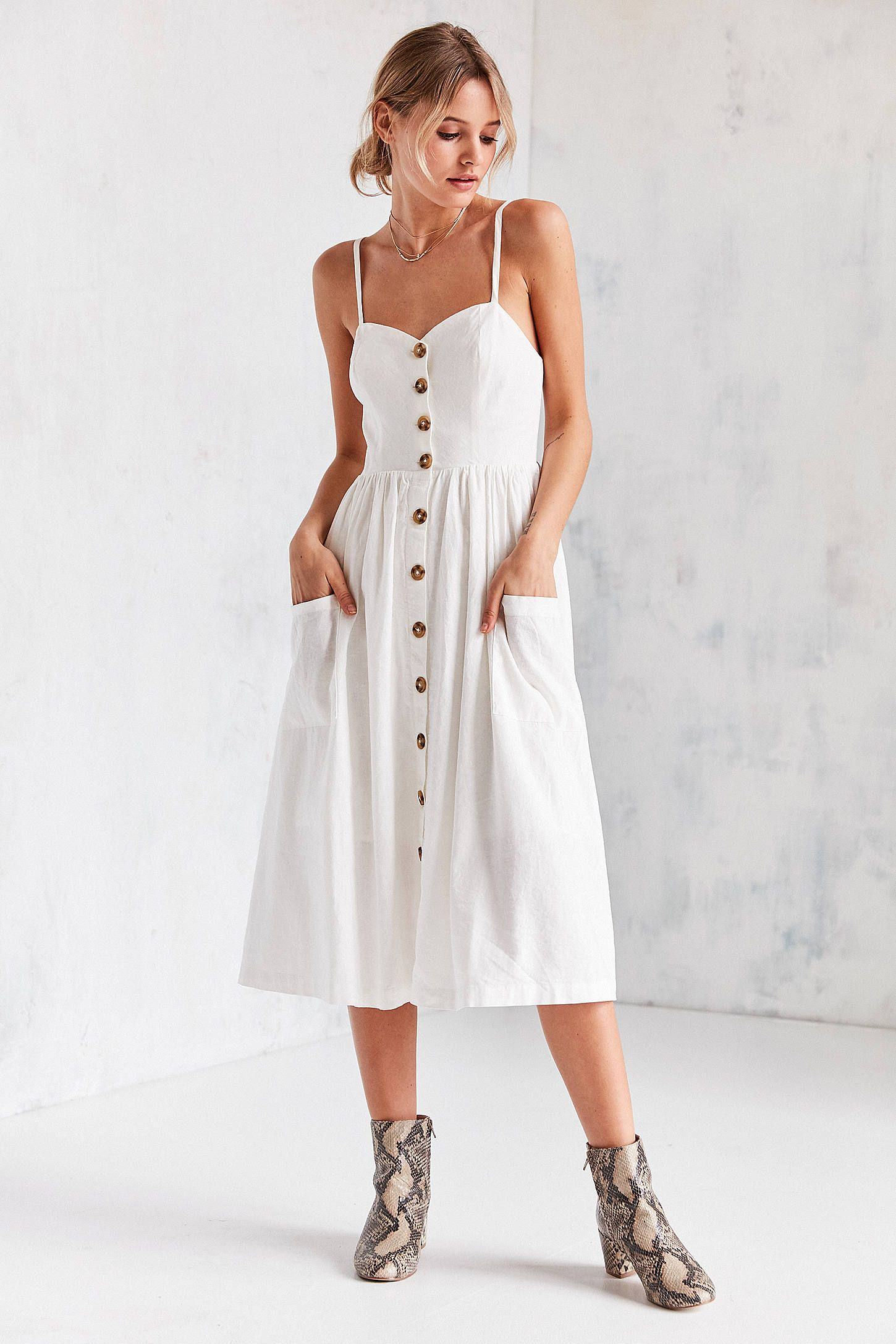 fd1e1d945a2 Shop Urban Outfitters Emilia Linen Button-Down Midi Dress at Urban  Outfitters today. We carry all the latest styles