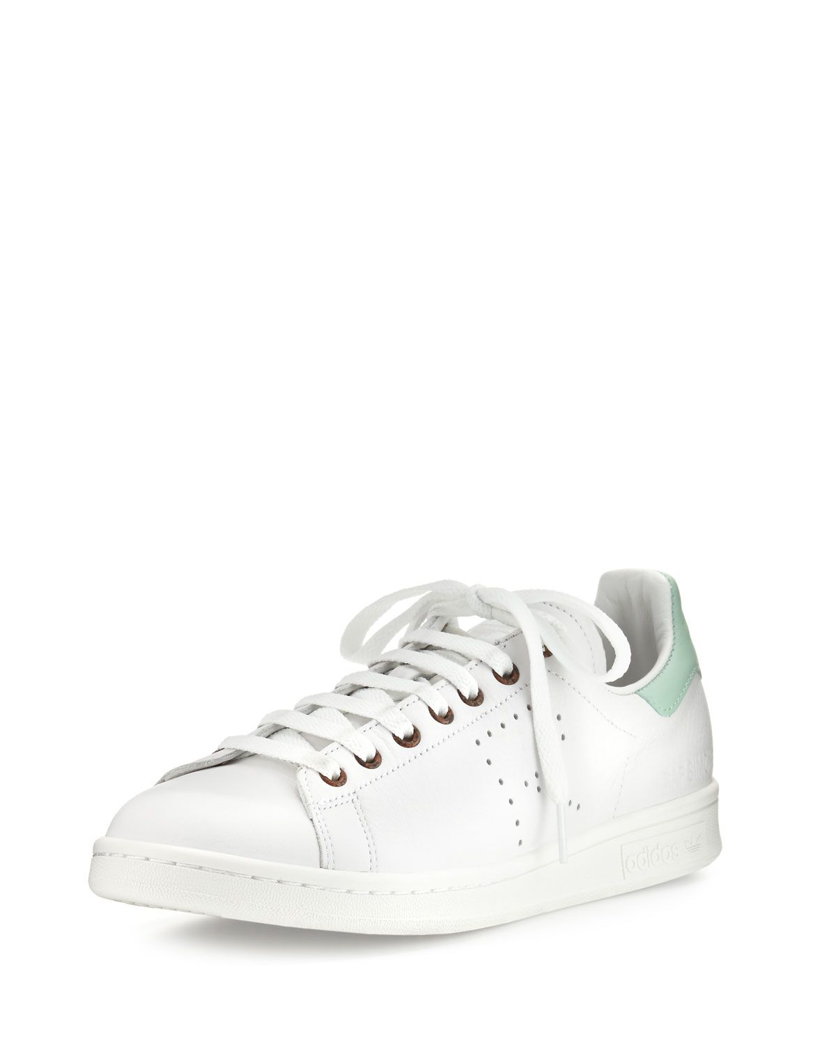 info for eed86 d8485 Men's Stan Smith Vintage Perforated Leather Sneakers White ...