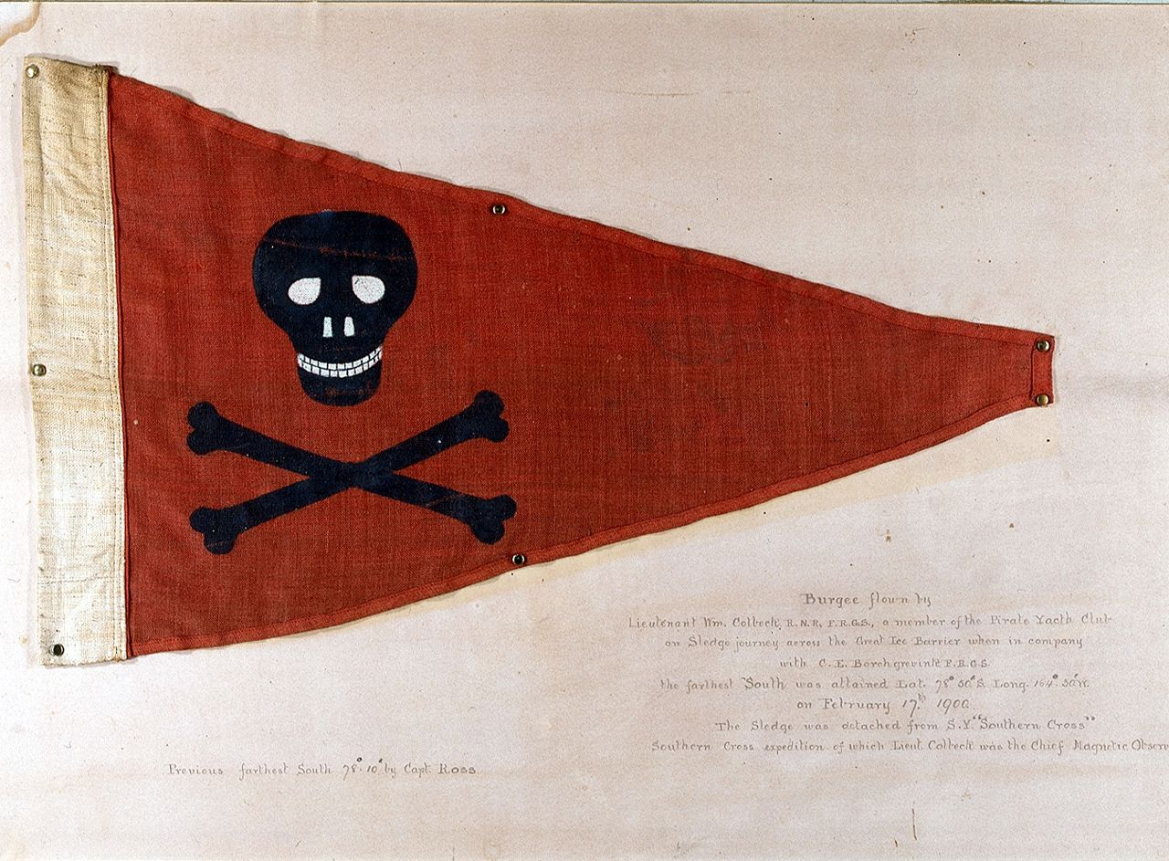 Burgee Of Pirate Yacht Club Bridlington National Maritime - Pirate museums in the us