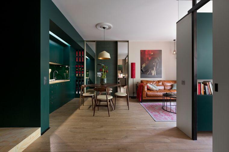 Arredare cucina soggiorno ambiente unico, mobili cucina incastro ...