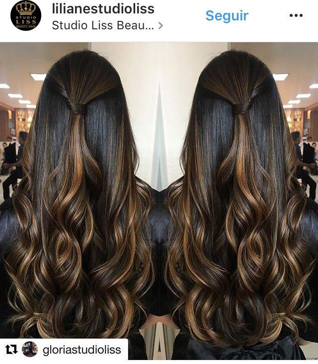 Choco Brown N Highlite Hair Style In 2019 Cabelo