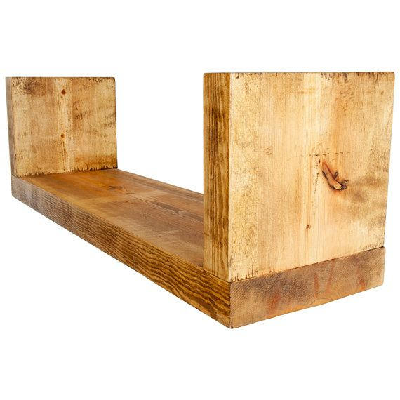 Floating Dvd Bookshelf Made From Chunky Solid Wood In Our