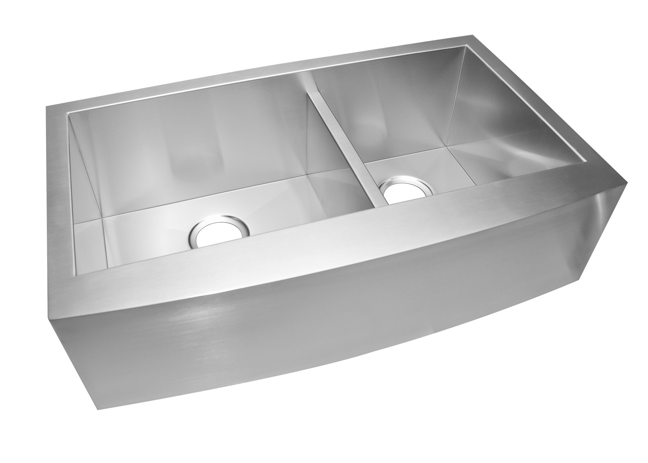 33 stainless steel farmhouse sinkdouble bowl with