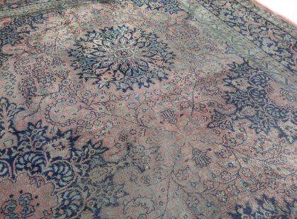 Perzisch Tapijt Blauw : Fraai sleets roze blauw perzisch tapijt kashmir 242 x 330 cm