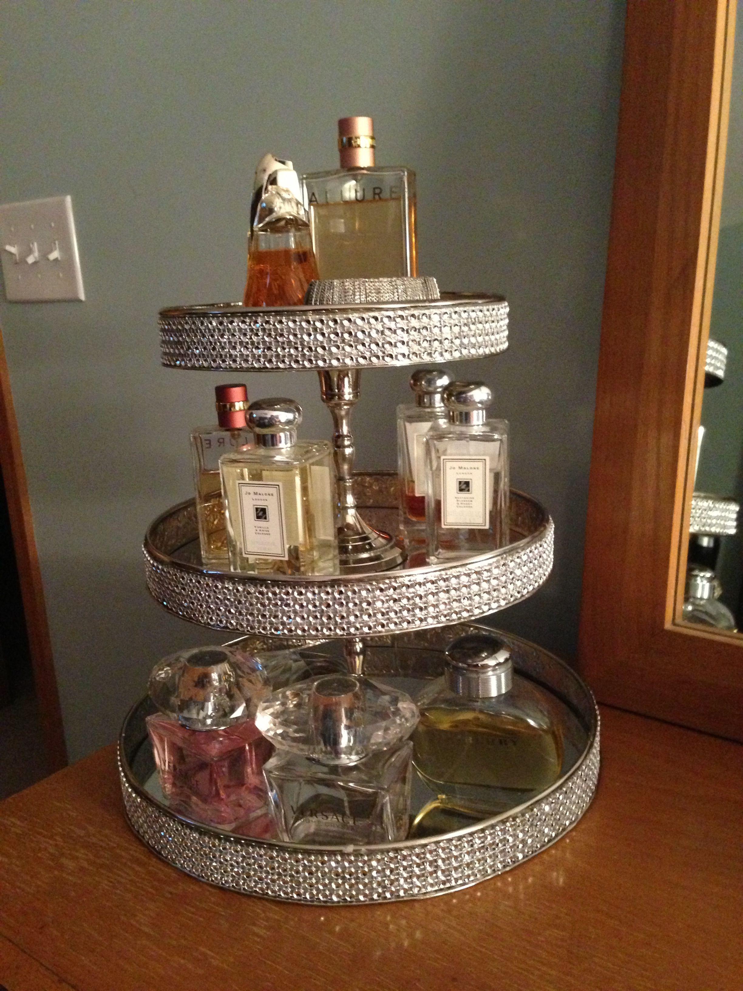 Diy Perfume Tray Love This For The Bedroom Perfume Tray Bathroom Organization Diy Perfume Display