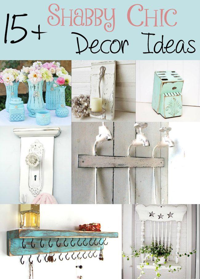 15 shabby chic decor ideas diy home decor pinterest deko shabby chic deko und rund ums haus. Black Bedroom Furniture Sets. Home Design Ideas