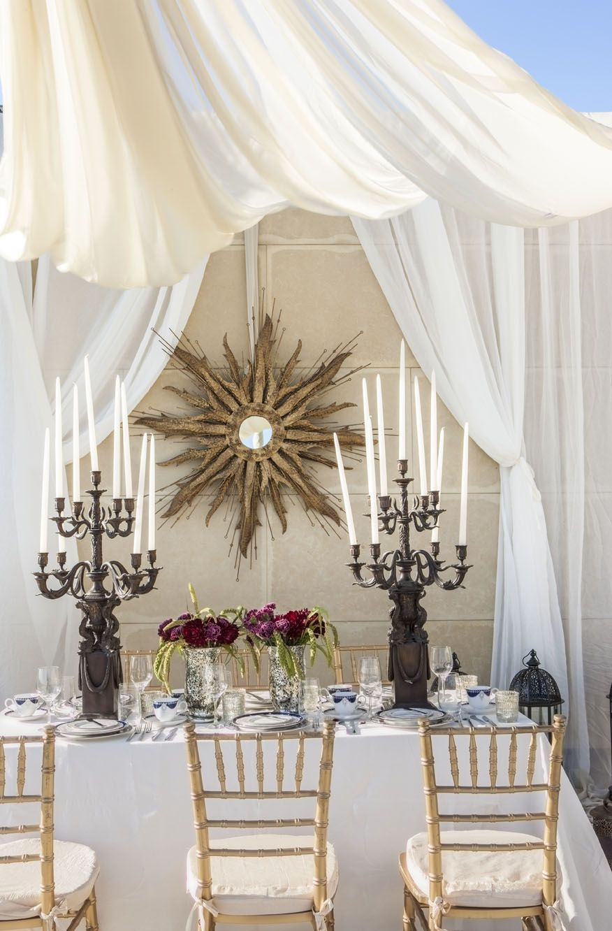 A tented #Moroccan-inspired #wedding set up at L\'Ermitage Beverly ...