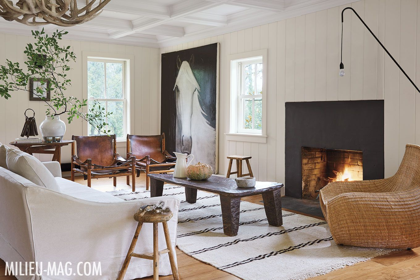 Belgian Born Interior Designer Natascha Folens And Her Husband Retreat To  Their Weekend Home In The Heart Of Virginia Hunt Country. With Benjamin  Moore ...