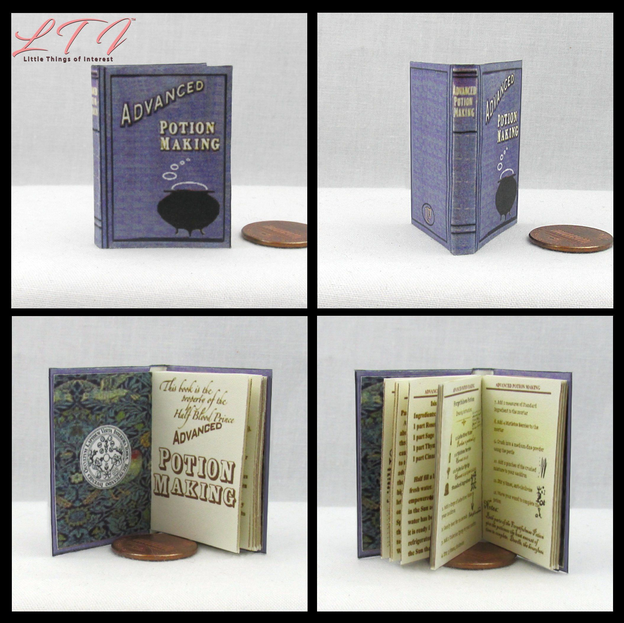 1:6 SCALE MINIATURE BOOK HARRY POTTER SORCERERS STONE PLAYSCALE BARBIE