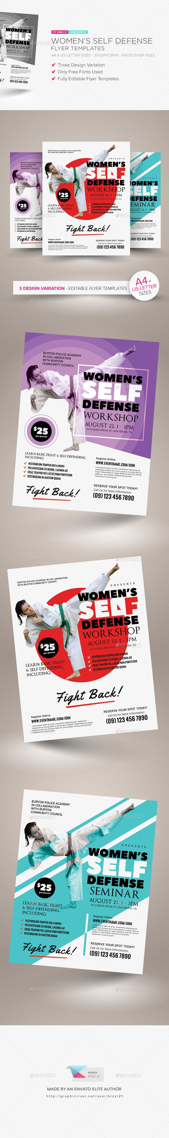 Womens Self Defense Flyer Templates Flyer Template Template And