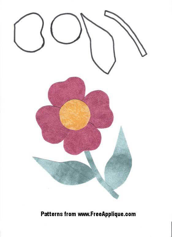 Free Applique Quilt Patterns | ... pattern page free flower ... : applique quilt patterns flowers - Adamdwight.com
