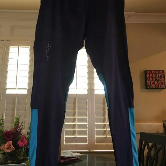 Leggings, gently used Blue with teal blue champion leggings champion Pants Leggings