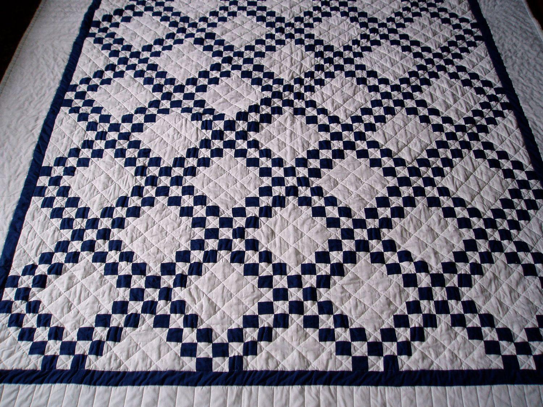 Navy Blue and White Quilt | Mae's Dojo | Pinterest | Navy blue ... : blue quilts pinterest - Adamdwight.com