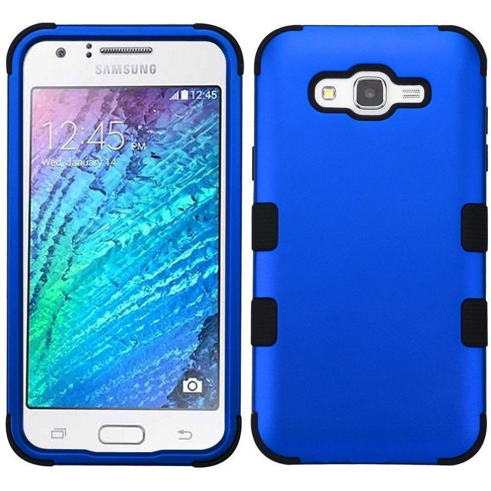MYBAT TUFF Hybrid Galaxy J7 (2015) Case - Titanium Blue/Black | Samsung galaxy j7 case. Titanium blue. Blue