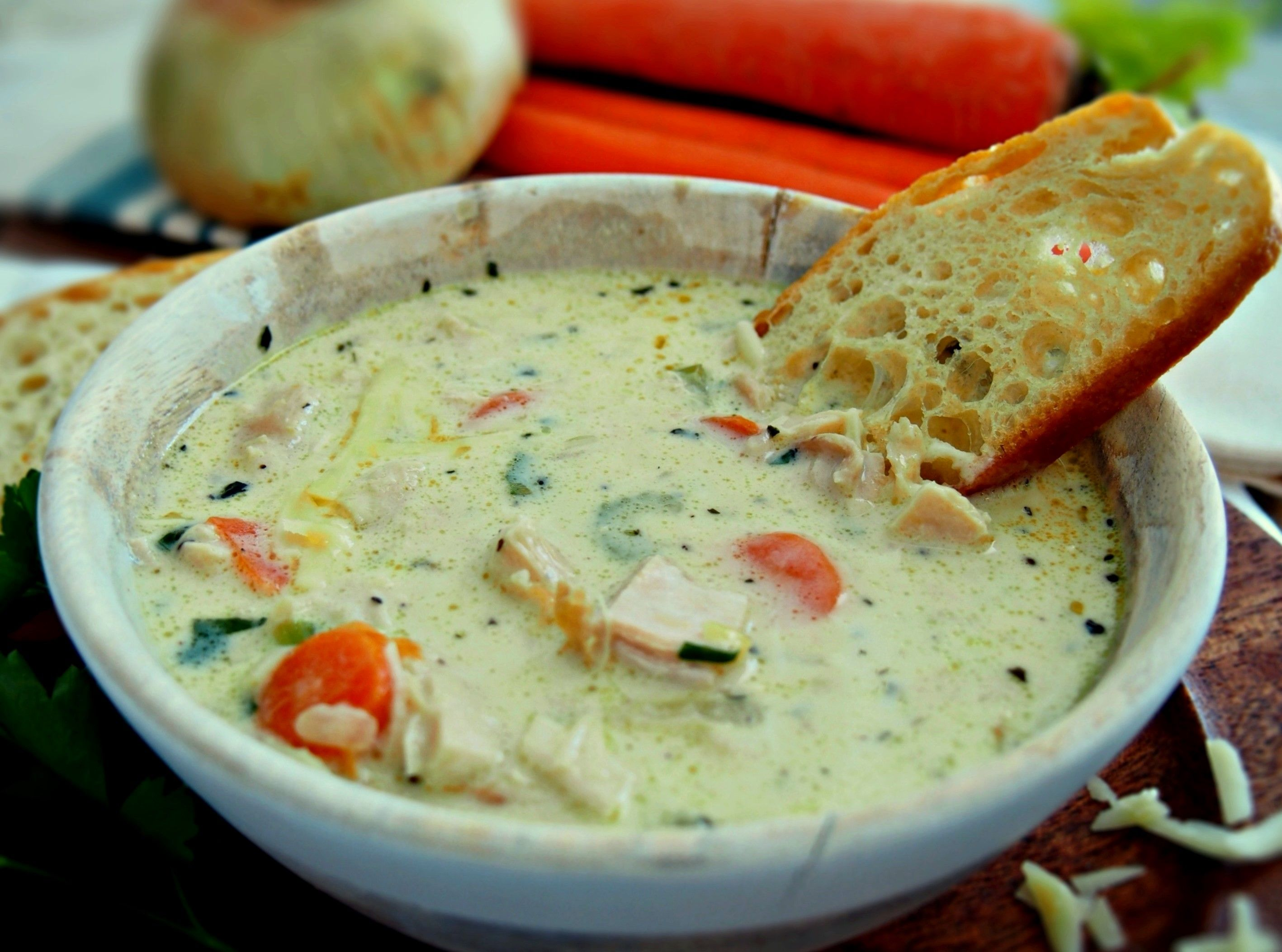French Cream Of Chicken Soup With Herbes De Provence Creamy Chicken Soup Recipes Food