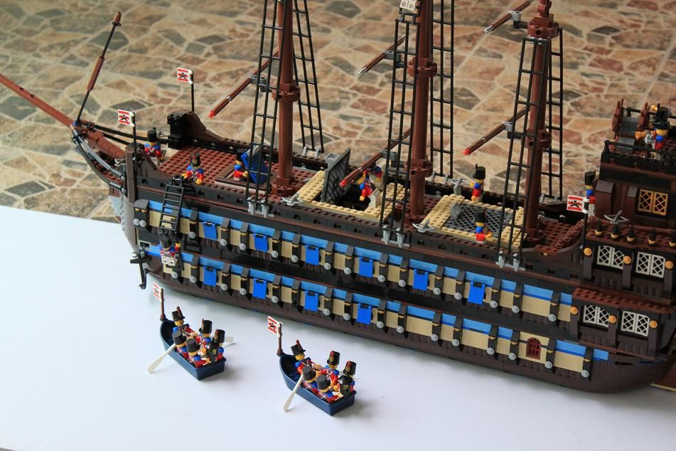 LEGO MOC | 10210 Imperial Flagship Double #pirates | Lego ships