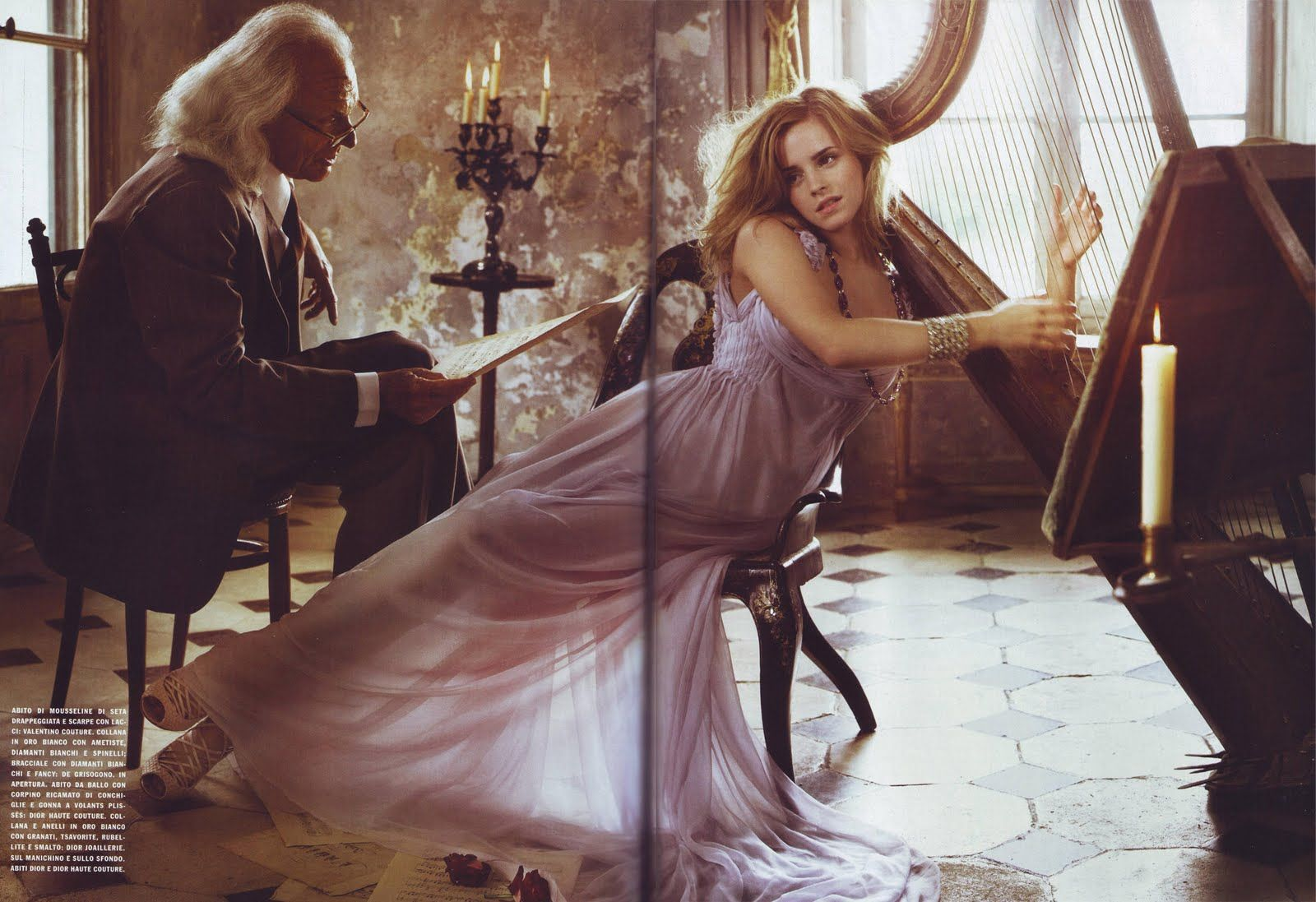 Emma watson in valentino haute couture photographed by for Haute couture photoshoot