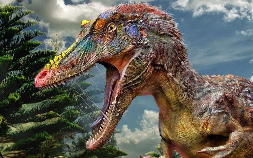 Qianzhousaurus sinensis closeup