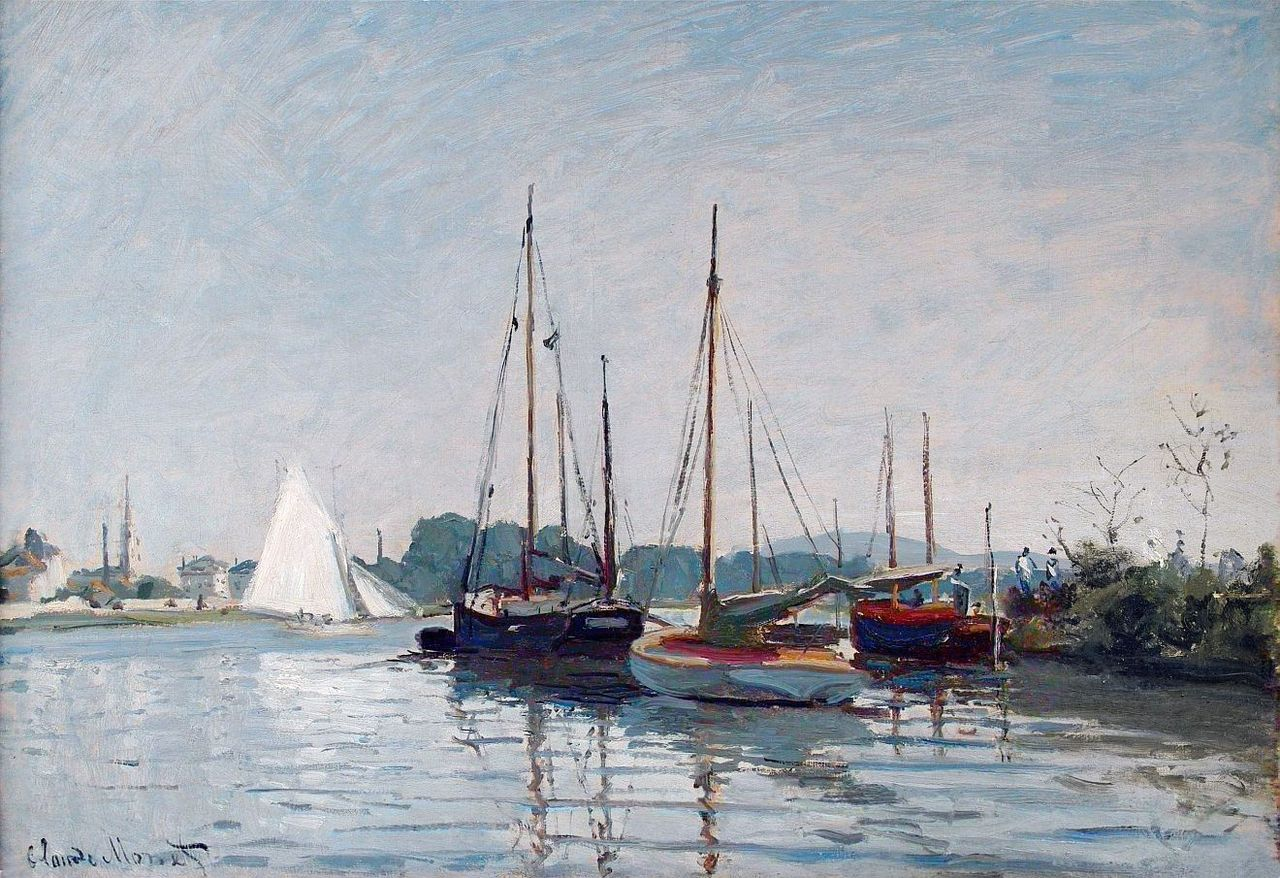1872 / Claude Monet / Yachts (Musee d'Orsay)