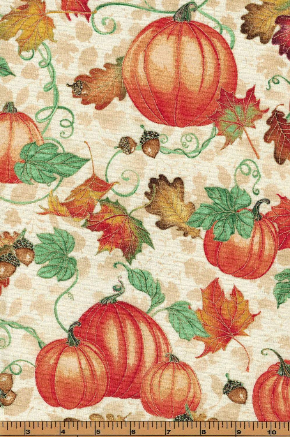 Pumpkins - Harvest Bounty Collection by Quilting Treasures- 100 ... : quality quilting fabric - Adamdwight.com