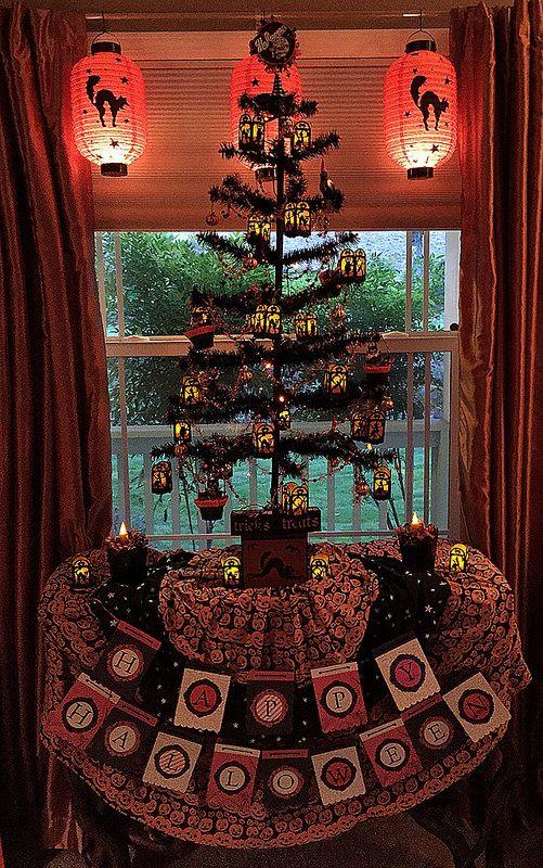 Tree with skirt Vintage halloween, Halloween items, Xmas
