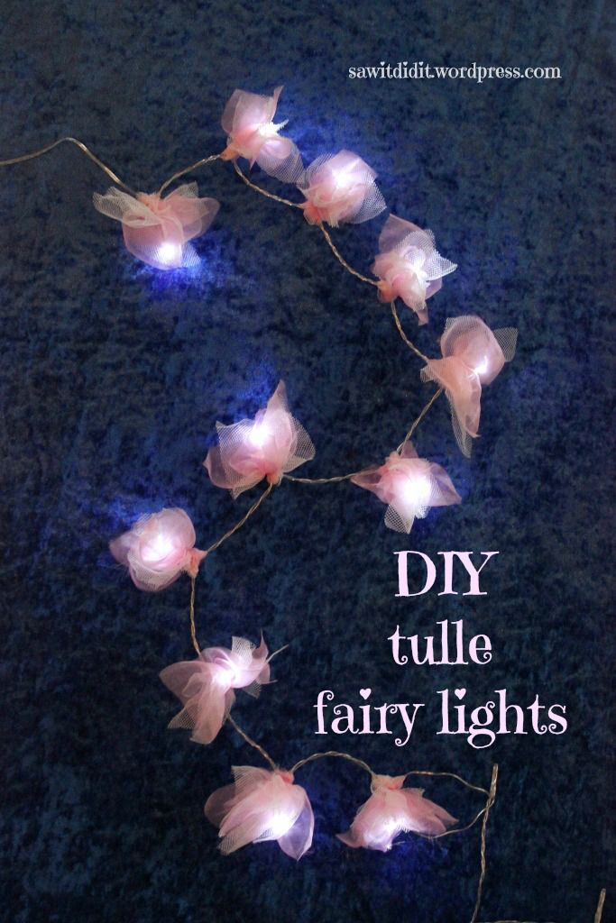 Friday Feature Linky Party Tulle crafts, Fairy lights