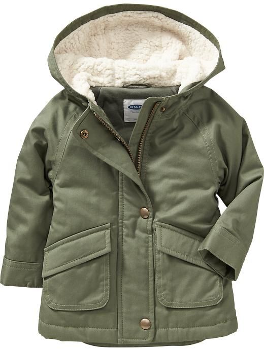 Hooded Twill Jackets For Baby Product Image Baby Girl