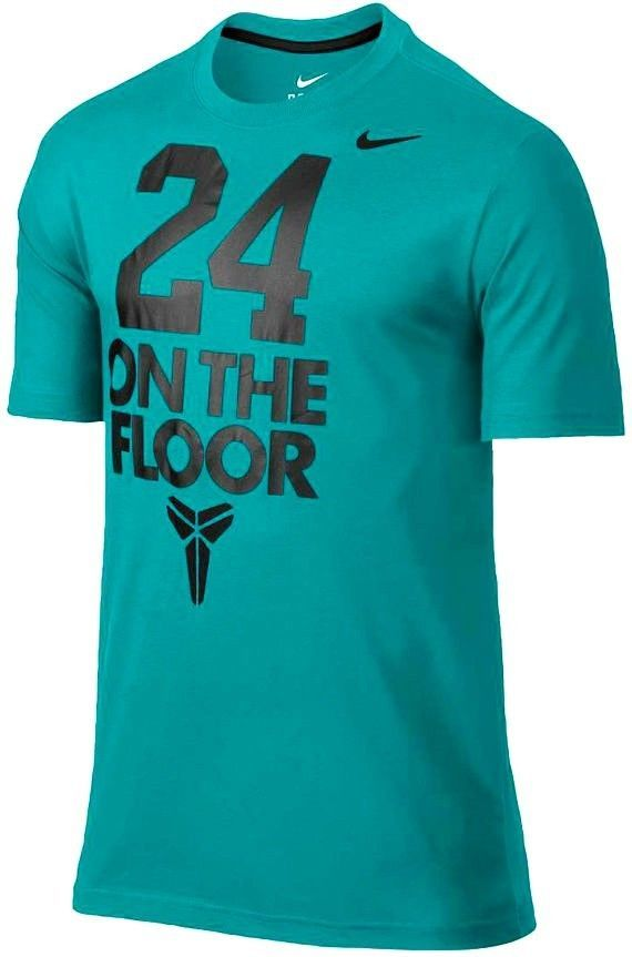 7dbc318fa NEW NIKE T-SHIRT MEN'S DRI-FIT COTTON TEE TURBO GREEN 24 ON THE FLOOR KOBE # NIKE #GraphicTee