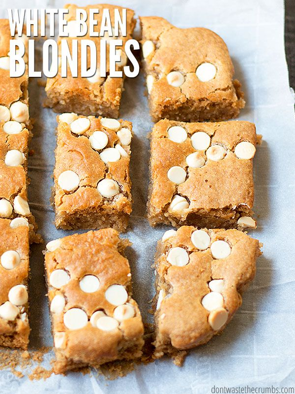 My kids beg for white bean blondies and devour the whole pan. So what? This brownie alternative rec