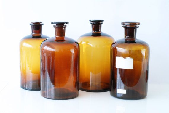 apothecary jar extra large amber glass bottle brown. Black Bedroom Furniture Sets. Home Design Ideas
