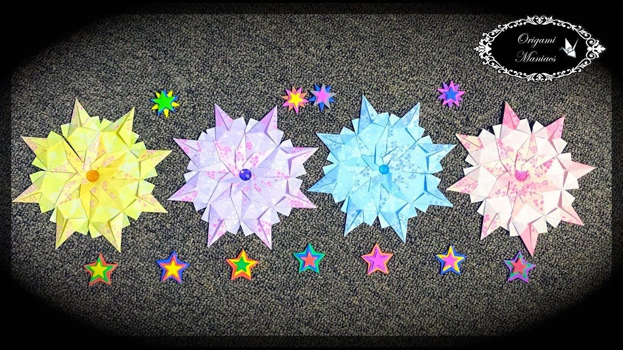 Origami Maniacs 276 Mandala Irmi Basteln Weihnachten Pinterest