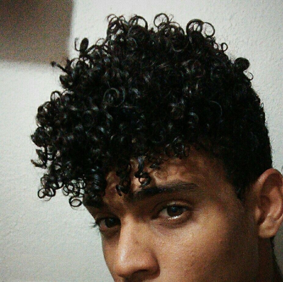 Curly boy hair black curly boy jhoanwsilva  man hair  black cachos  pinterest