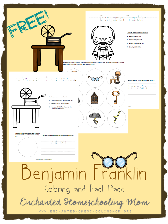 Have fun learning facts about Benjamin Franklin with this Benjamin