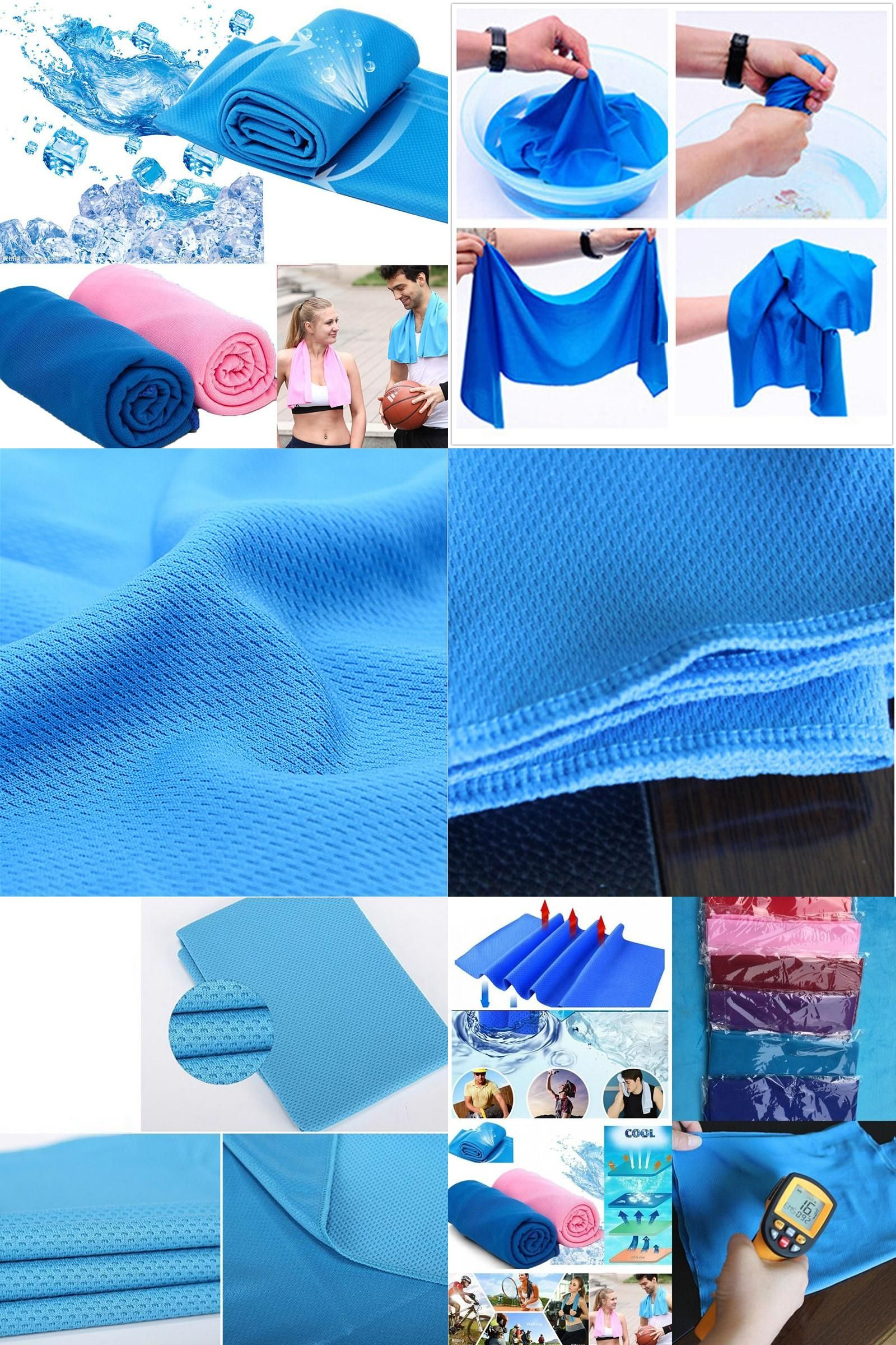 Visit To Buy Outdoor Sports Cooling Towel Ice Towel Summer Ice Cold Towel Pva Hypothermia Quick Dry 33 90cm Unisex Spo Cold Towels Cooling Towels Sport Towel