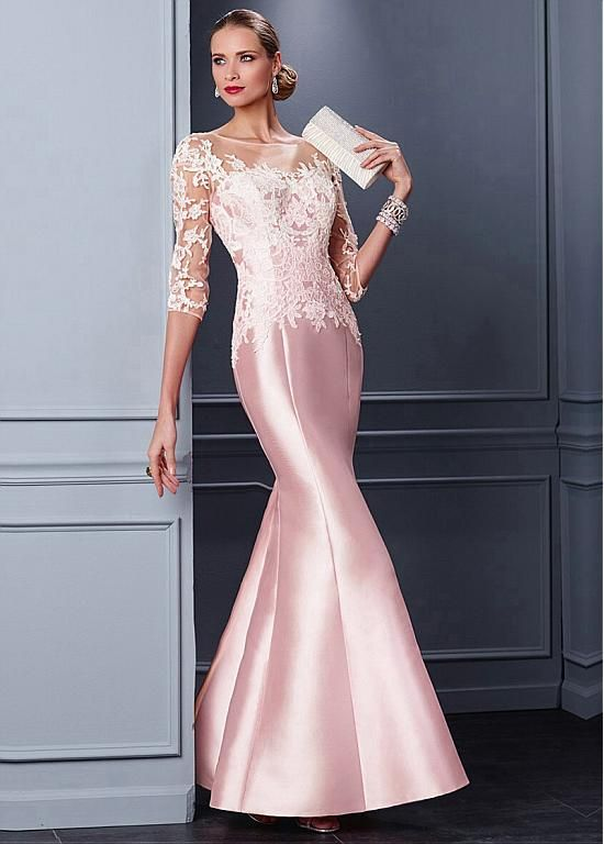 Buy discount Marvelous Tulle & Satin Bateau Neckline Mermaid Mother of the Bride Dresses With Lace Appliques at Magbridal.com