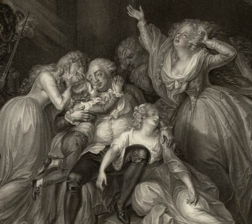 He wept for sorrow over us, and not from fear of death. —the narrative of Marie Thérèse Charlotte, daughter of Louis XVI and Marie Antoinette [image credit: Bibliothèque nationale de France, département Estampes et photographie]
