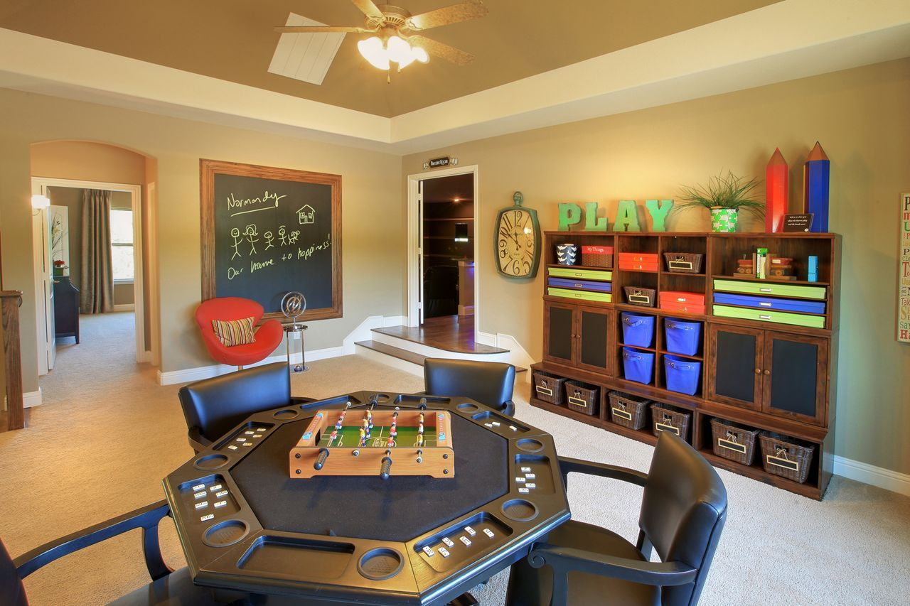 Decorating your living room properly will. New Home Communities In DFW | Game room, Family room ...