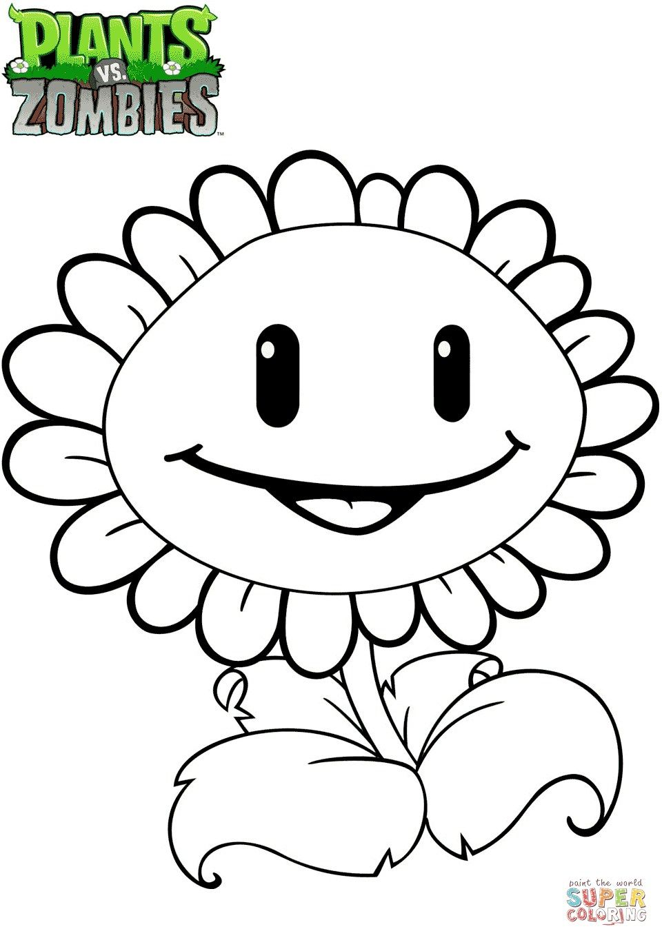 22 Wonderful Picture Of Plants Vs Zombies Coloring Pages Davemelillo Com Sunflower Coloring Pages Plants Vs Zombies Birthday Party Sunflower Colors